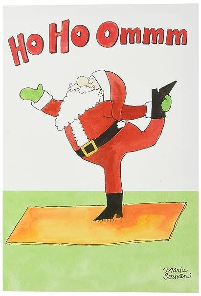 Amazon Santa Yoga Unique Humor Christmas Greeting Card With