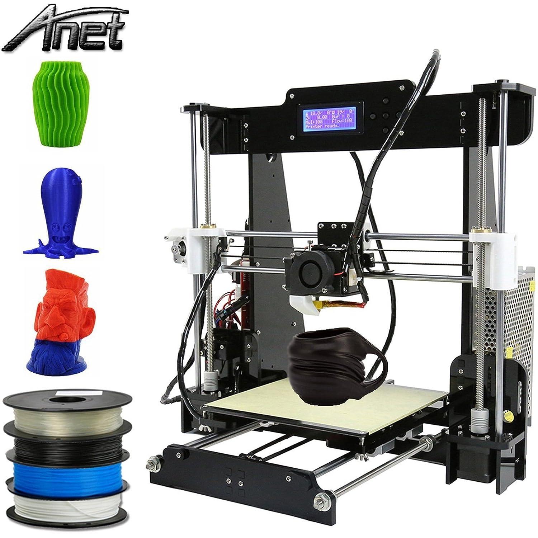 Anet A8 Imprimante 3d printer Desktop Acrylique É cran LCD i3 upgradest DIY haute pré cision selbstbauen druckmaschine 3d Kit PLA, ABS, astronaute A832600