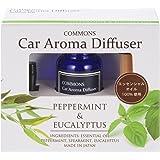 COMMONS  車用アロマディフューザー Car Aroma Diffuser ペパーミント&ユーカリ CAOR 車用芳香剤