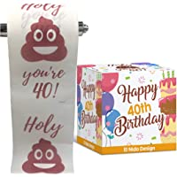 40th Birthday Toilet Paper - Happy birthday toilet paper prank– Funny 40th birthday gifts for men and women– best friend…