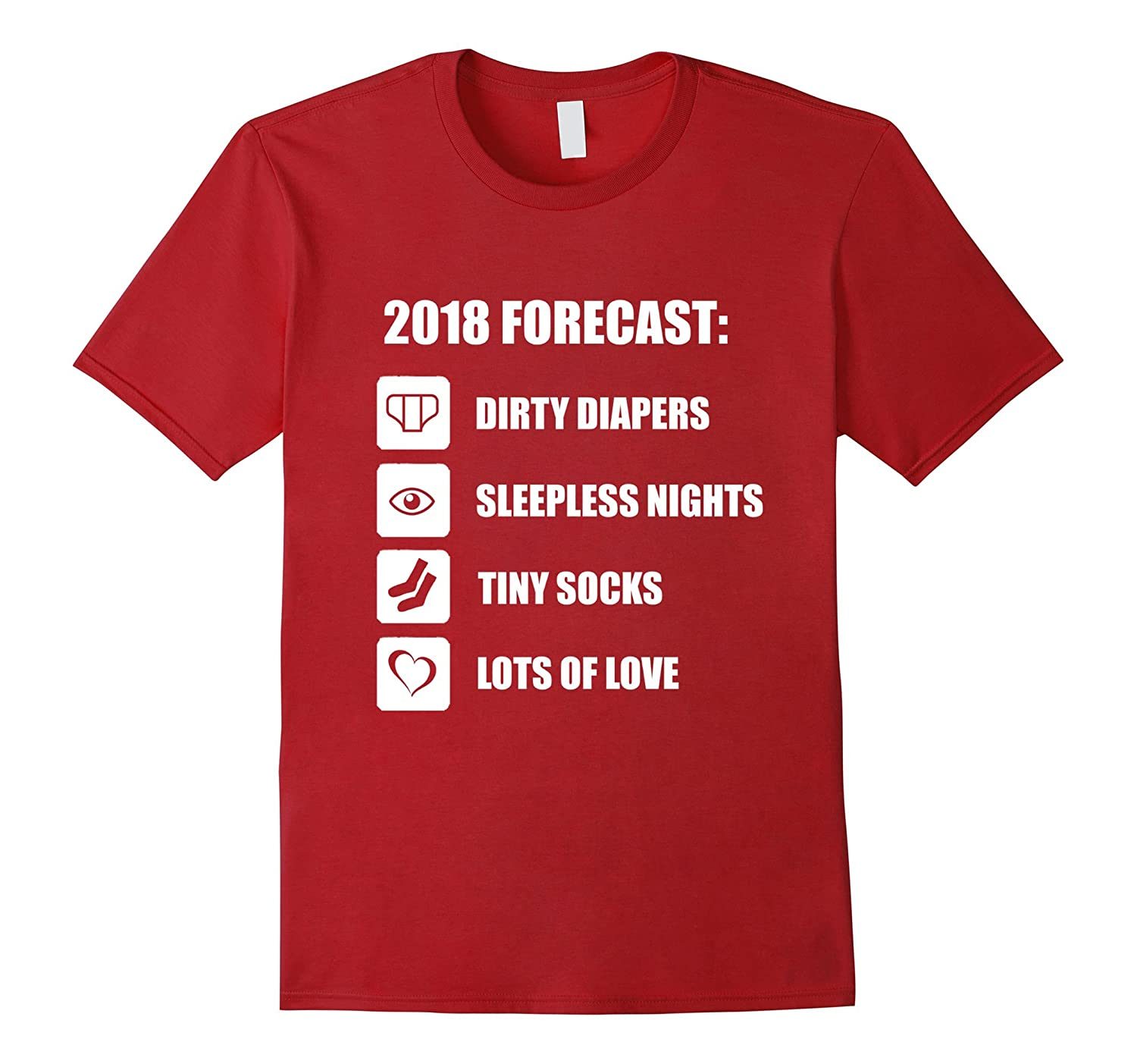 2018 Forecast Baby T Shirt - Funny New Mom New Dad Shirt-CL
