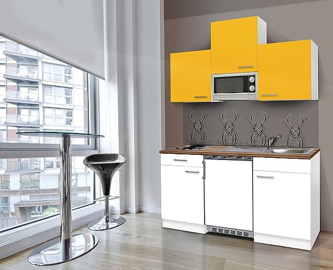 Bloque de cocina respekta single 150 cm blanco frente girasol ...