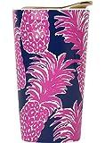 Lilly Pulitzer Ceramic Travel Mug, Flamenco, Pink