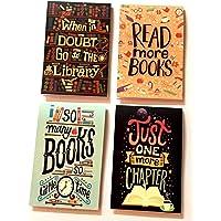 MACRO Book lover Magnetic Bookmark -Set of 4