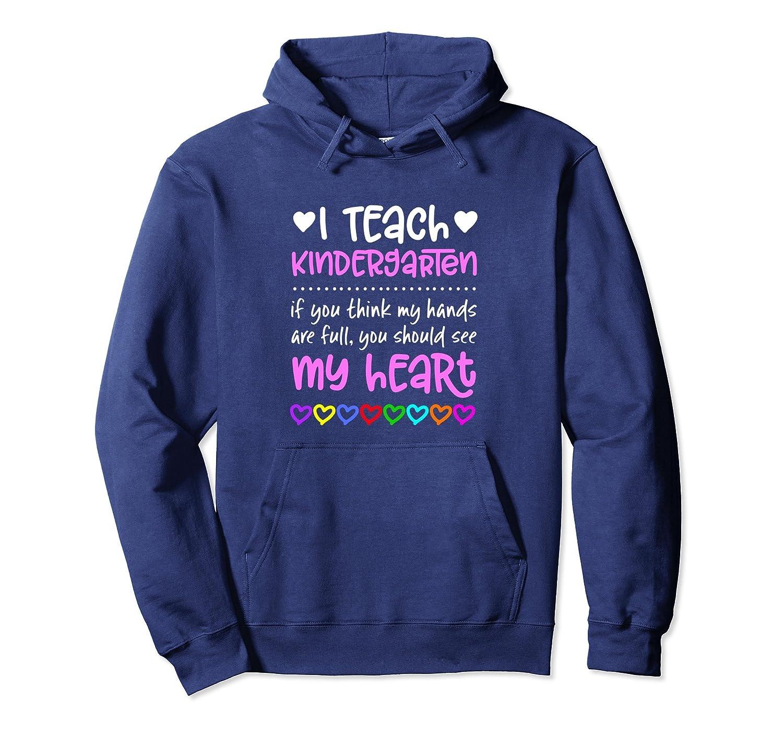 Kindergarten Teacher Hoodie Gift Hands Full Heart Students-fa