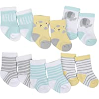 GERBER Baby Boys' 6-Pair Wiggle Proof Sock