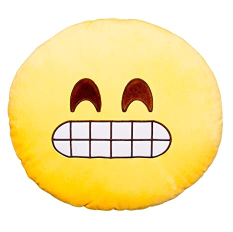 Amazon.com: Angry Birds dientes Emoji Cojín redondo Smiley ...