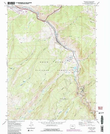 Minturn Colorado Map.Amazon Com Yellowmaps Minturn Co Topo Map 1 24000 Scale 7 5 X