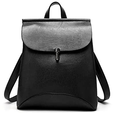 SiMYEER Women's Pu Leather Backpack Purse Ladies Casual Shoulder ...