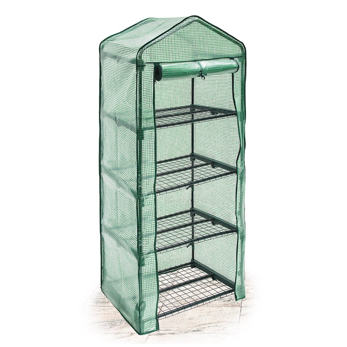Relaxdays Greenhouse 2 Levels Tear-Resistant Growth Support for Plants, Levels Each of 60 x 46 cm (23.6 x 18.1 in) 10018891