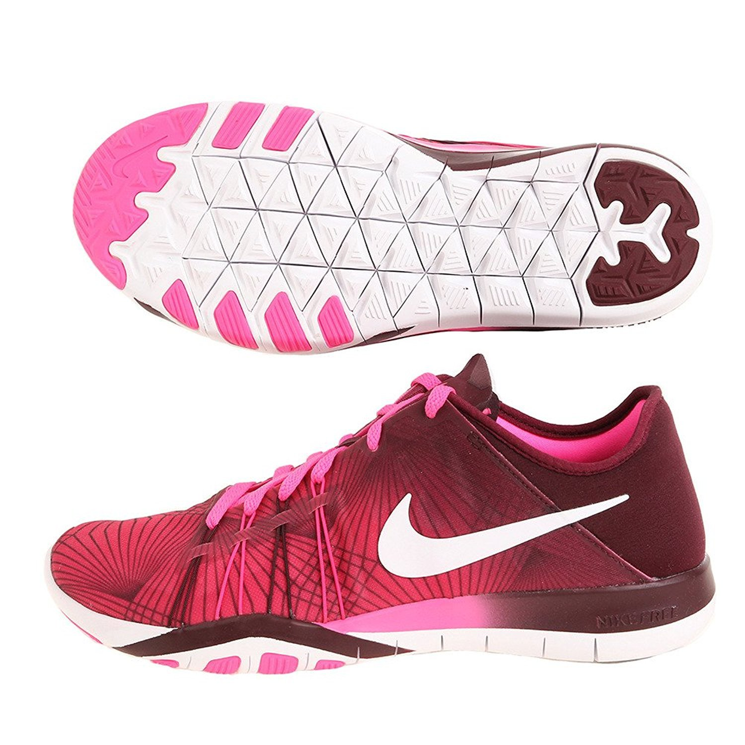 Womens Nike Free TR 6 Training Shoes B019HDOCIG 9.5 B(M) US|Pink Blast/White-night Maroon