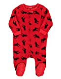 Leveret Fleece Baby Boys Girls Footed Pajamas