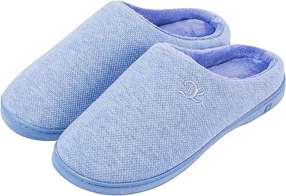 DL Womens Memory Foam Slippers, Slip on