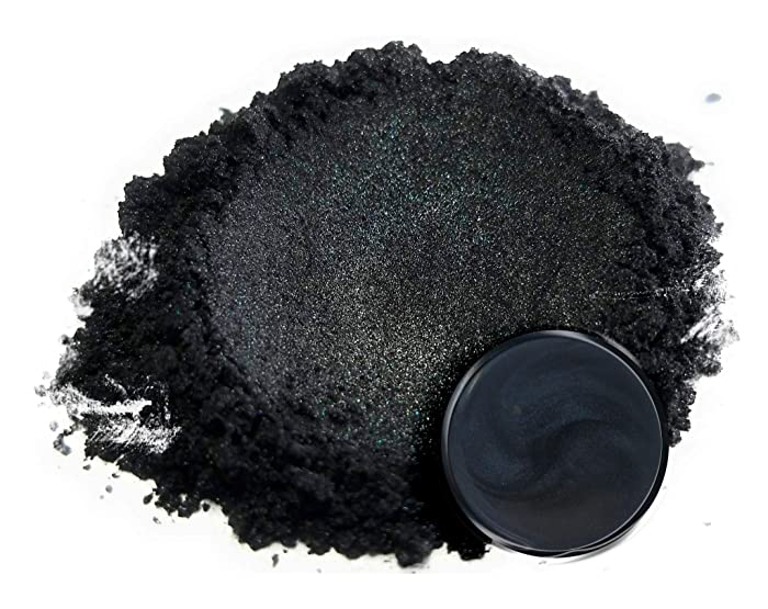 "25gr""Ninja Black"" Mica Powder Pigments (Resin, Paint, Epoxy, Soaps, Nail Polish, Liquid Wraps)"