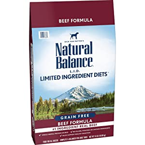 Limited Ingredient Grain Free Dry Dog Food Beef from Natural Balance