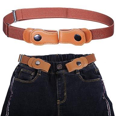 Women Men Unisex Buckle Free Stretchy Elastic Waist Belt Waistband Adjustable UK