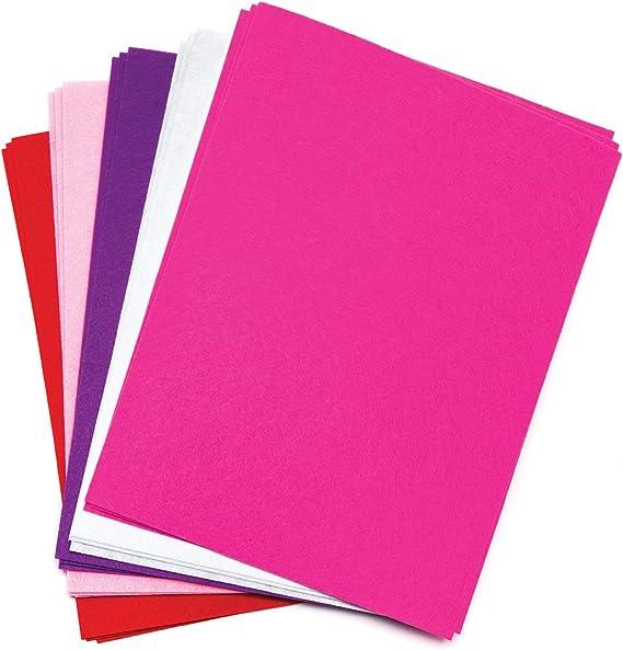 Baker Ross Pack ahorro de láminas de fieltro rojas, rosas y moradas (Paquete de 15) Para manualidades infantiles del Día de San Valentín: Amazon.es: Juguetes y juegos