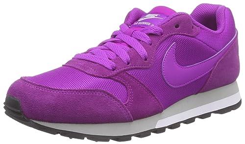 big sale eed6a f37ae Nike - Md Runner 2, Scarpe da Donna, Viola (Vivid Purple/Mtllc Slvr ...