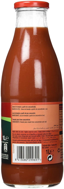 Gourmet - Zumo de tomate - 1 l - , Pack de 6: Amazon.es: Alimentación y bebidas