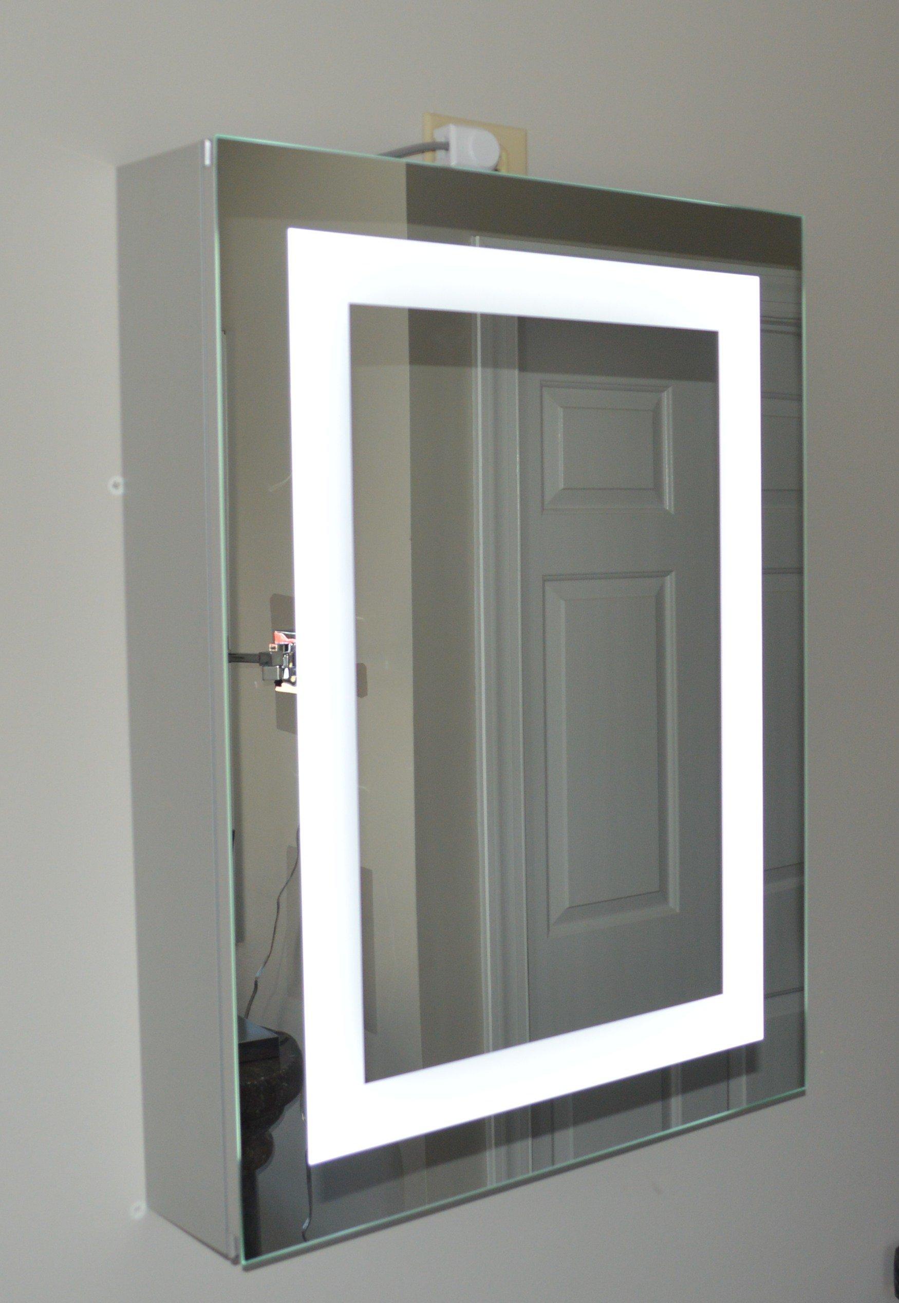 Lighted Medicine Cabinet - 24''w x 32''t - lighted door - commercial grade