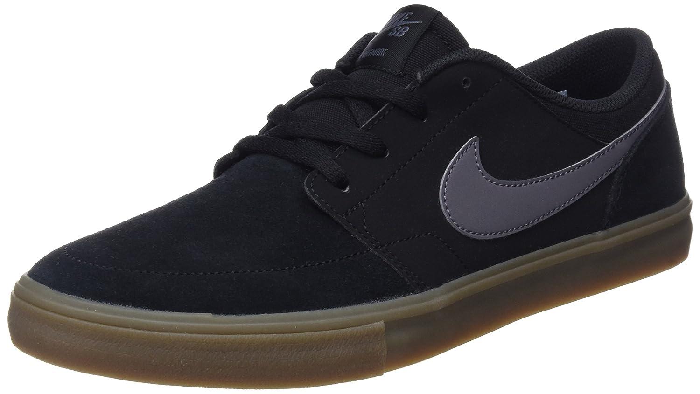 NIKE Men's Sb Portmore Ii Solar Ankle-High Canvas Skateboarding Shoe B01K3IHK88 10 D(M) US Black / Dark Grey-gum Light Brown