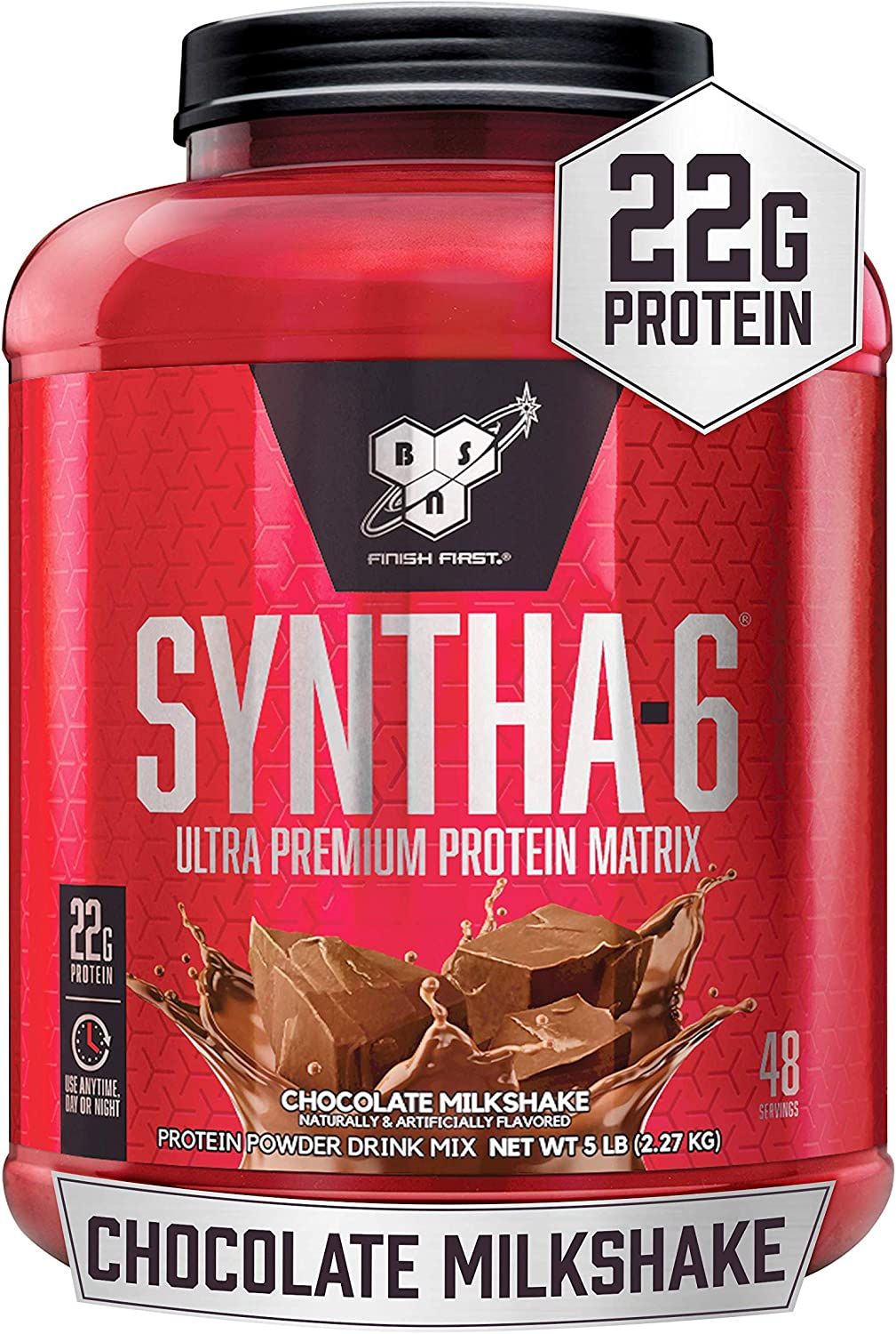 BSN SYNTHA-6 Whey Protein Powder, Micellar Casein, Milk Protein Isolate, Chocolate Milkshake, 48 Servings (Packaging May Vary): Health & Personal Care