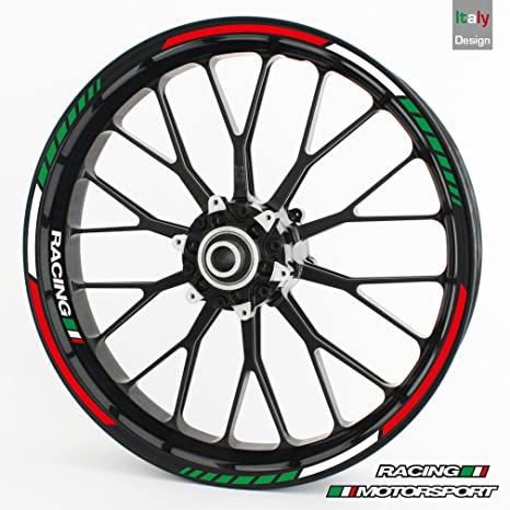 Wheel rim sticker rs italy tricolore complete set for 15 16 17quot