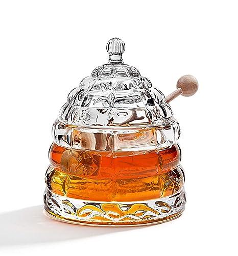 aaa0b45e8095 STUDIO SILVERSMITHS Beehive Crystal Honey Jar