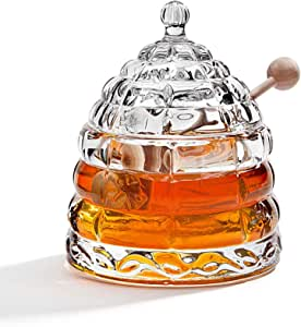 STUDIO SILVERSMITHS Beehive Crystal Honey Jar