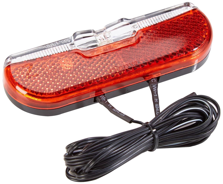 Trelock 8003253 - Fanalino dinamo posteriore LS 613 Duo Flat, colore: nero