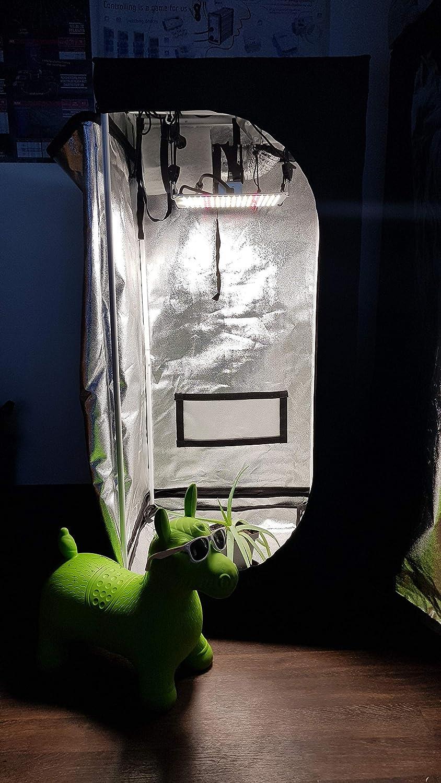 Abluft Growset Komplettset Dark Set 80 LED 110W Full Spektrum Quantum Board LM301B inkl