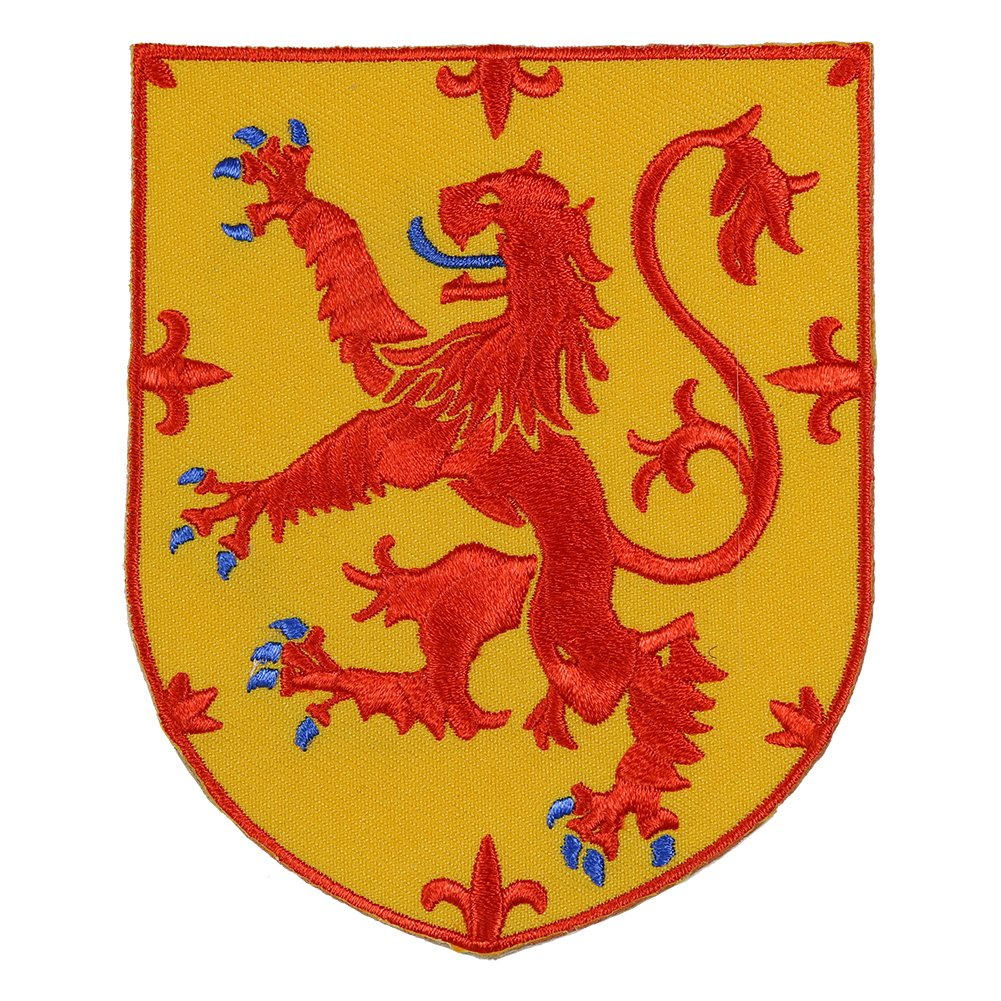 b72652014 Amazon.com: VEGASBEE SCOTLAND COAT OF ARMS SCOTTISH LION RAMPANT SCOTS  SHIELD CREST EMBROIDERED PATCH: Garden & Outdoor