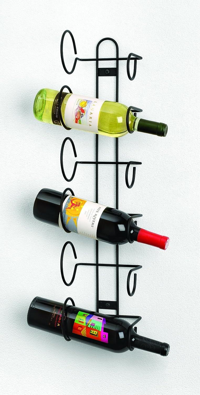 Spectrum Diversified Steel  Wine Rack, Wall Mount, 6-Bottle, Black