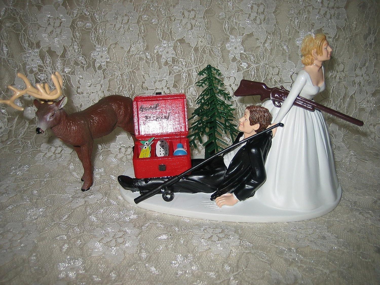 Amazon Humorous Redneck Wedding Deer Hunter Hunting Fishing Cake Topper Kitchen Dining