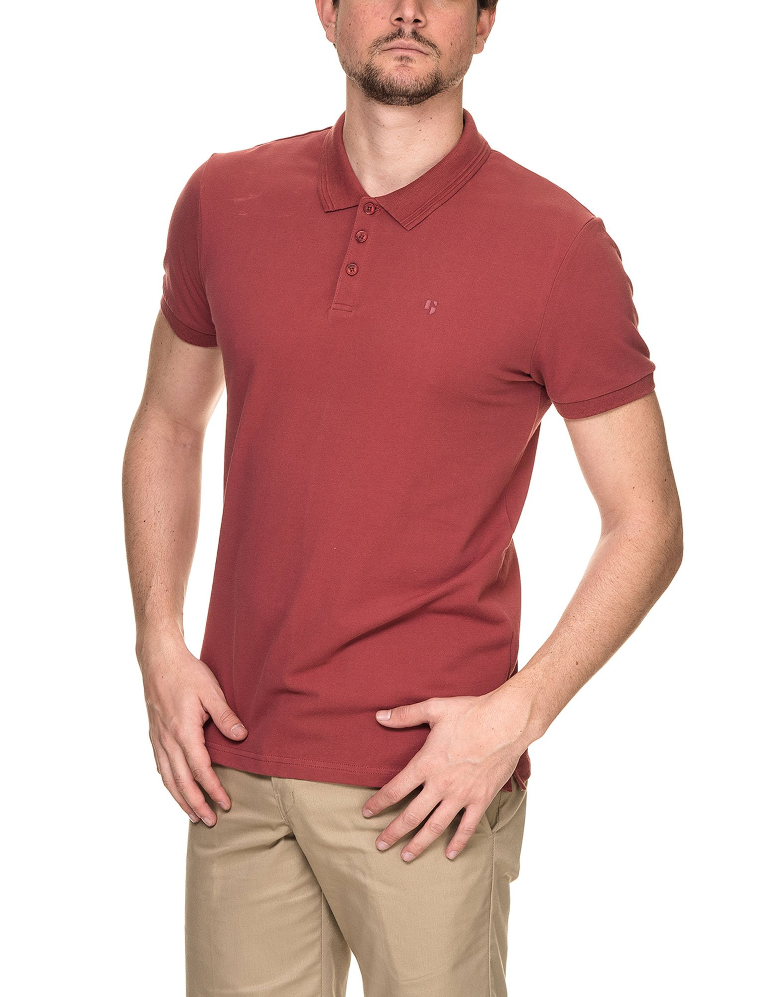 GARCIA JEANS Men's Men's Polo T-Shirt in Red in Size L Red