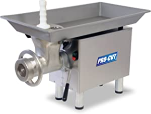 PRO-CUT KG-22-W Meat Grinder, 1 hp Motor, Stainless Steel Construction, Washerless Grinding System