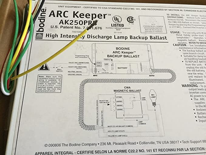 Amazon.com: NEW BODINE AK250PRB ARC KEEPER DISCHARGE LAMP ... on lamp parts diagram, light socket diagram, simple switch panel wire diagram, lamp wire, lamp plug diagram, lighting diagram, light relay wire diagram, lamp schematic, lamp hardware diagram, lamp switch, lamp repair diagram, lamp remote control, lamp specifications, light bulb circuit diagram, light switch diagram,