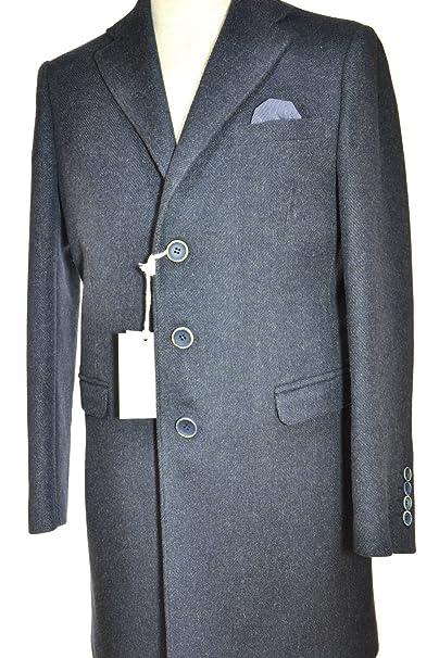 Alessandro Gilles CAPPOTTO UOMO EXTRA SLIM TG. 54 BLU SPIGATO CD03  Amazon. it  Abbigliamento 57d36cbc1ed