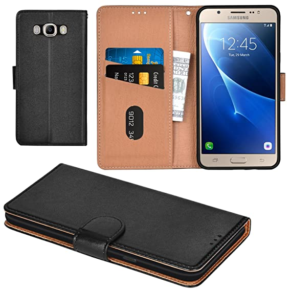 new arrival a4ecd 7422a Aicoco Galaxy J7 2016 Case Flip Cover Leather Wallet Phone Case for Samsung  Galaxy J7 2016 - Black