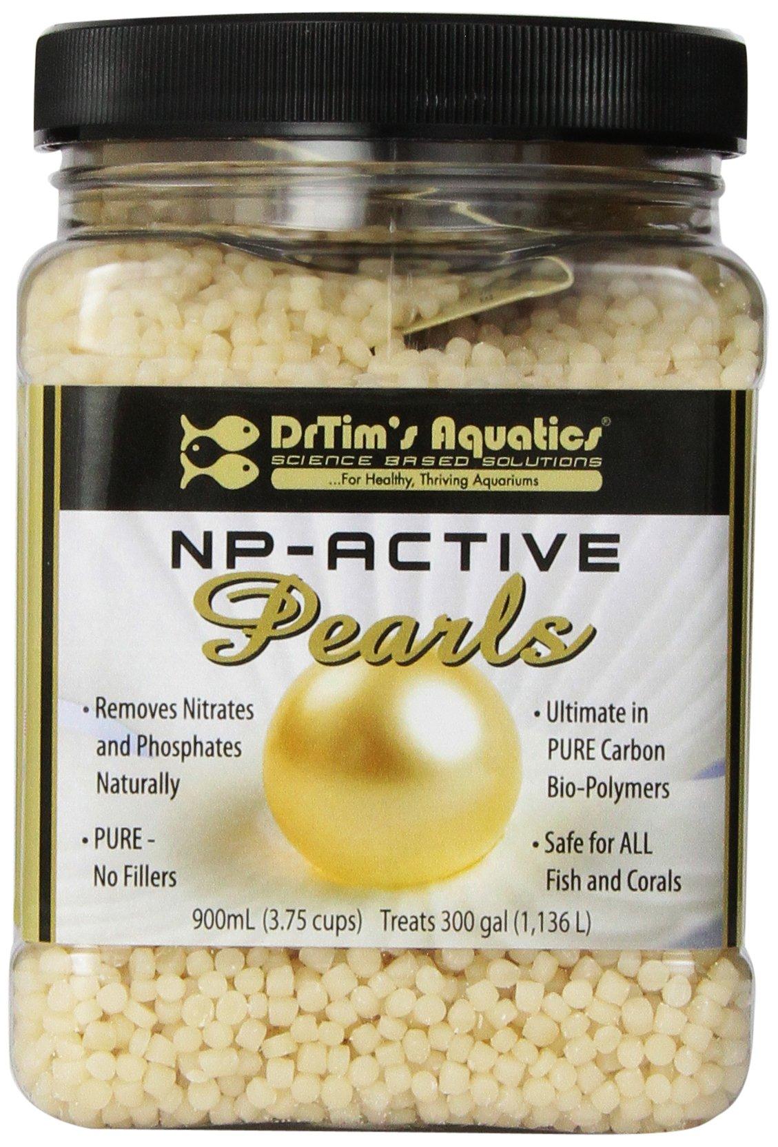 DrTim's Aquatics All-Natural Aquarium Pearls, 900mL - Removes Algae, Controls Nitrate & Phosphate -  Bio Pellets 100% Safe for ALL Aquariums