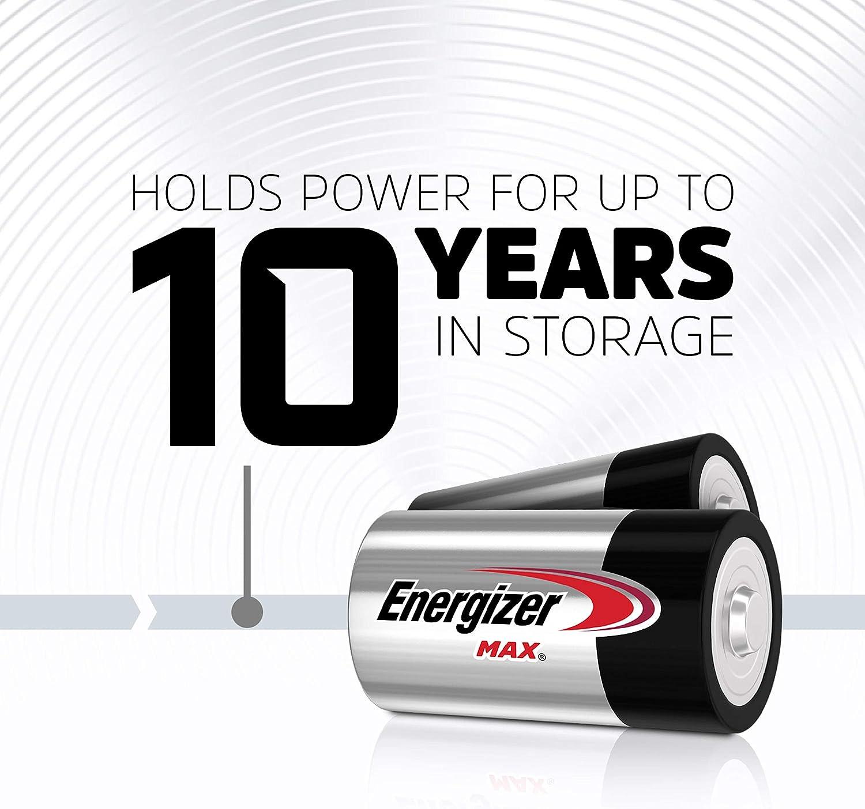 Premium Alkaline D Cell Batteries 2 Battery Count Energizer Max D Batteries