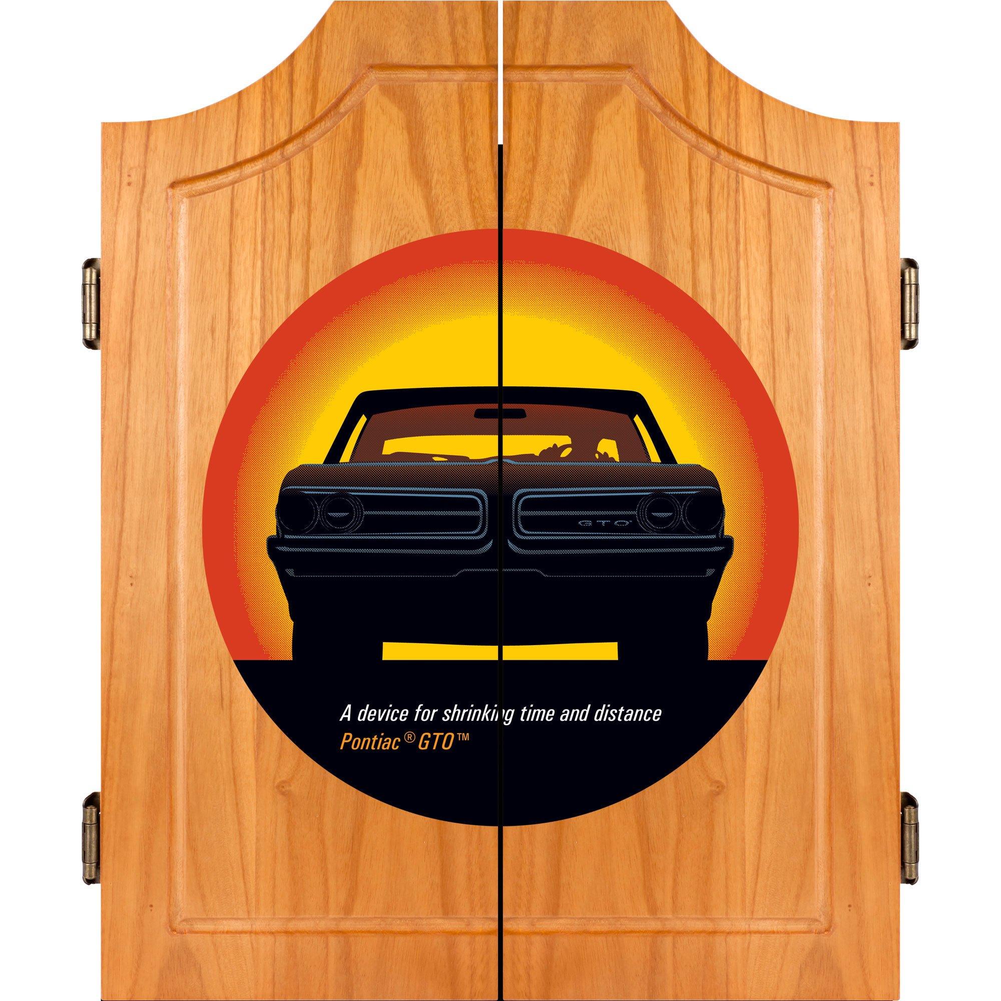 Pontiac GTO ''Time & Distance'' Wood Dart Cabinet Set