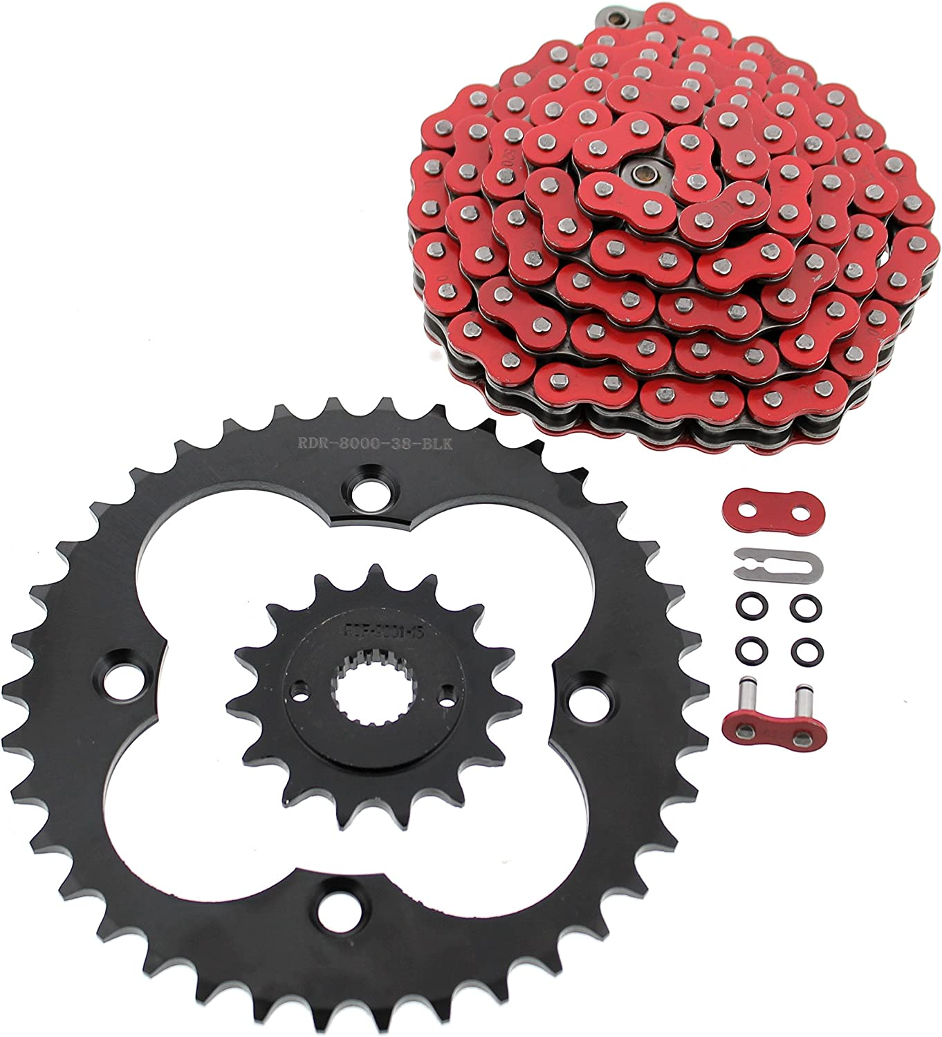 Primary Drive Rear Aluminum Sprocket 38 Tooth Red for Honda TRX 400EX 1999-2008