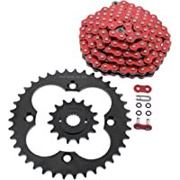 NICHE Drive Sprocket Chain Combo for Honda Z50R Z50RD Front 13 Rear 37 Tooth 420V O-Ring 76 Links