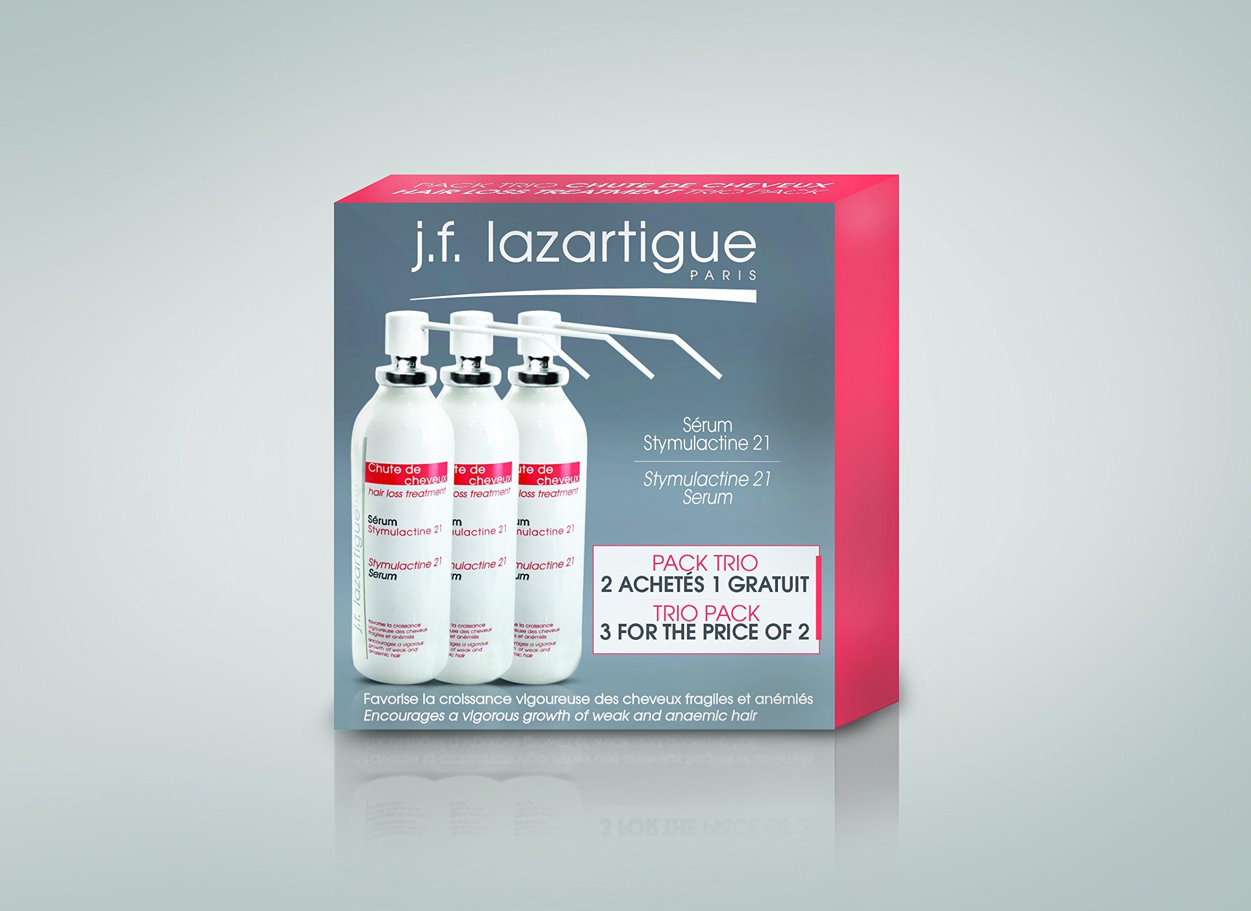 J.F. Lazartigue Stymulactine 21 Spray Serum Hair regrowth Trio Pack