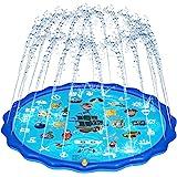 Obuby Sprinkle & Splash Play Mat, Sprinkler for Kids,Upgraded 68' Summer Outdoor Water Toys Wading Pool Splash pad for Toddle
