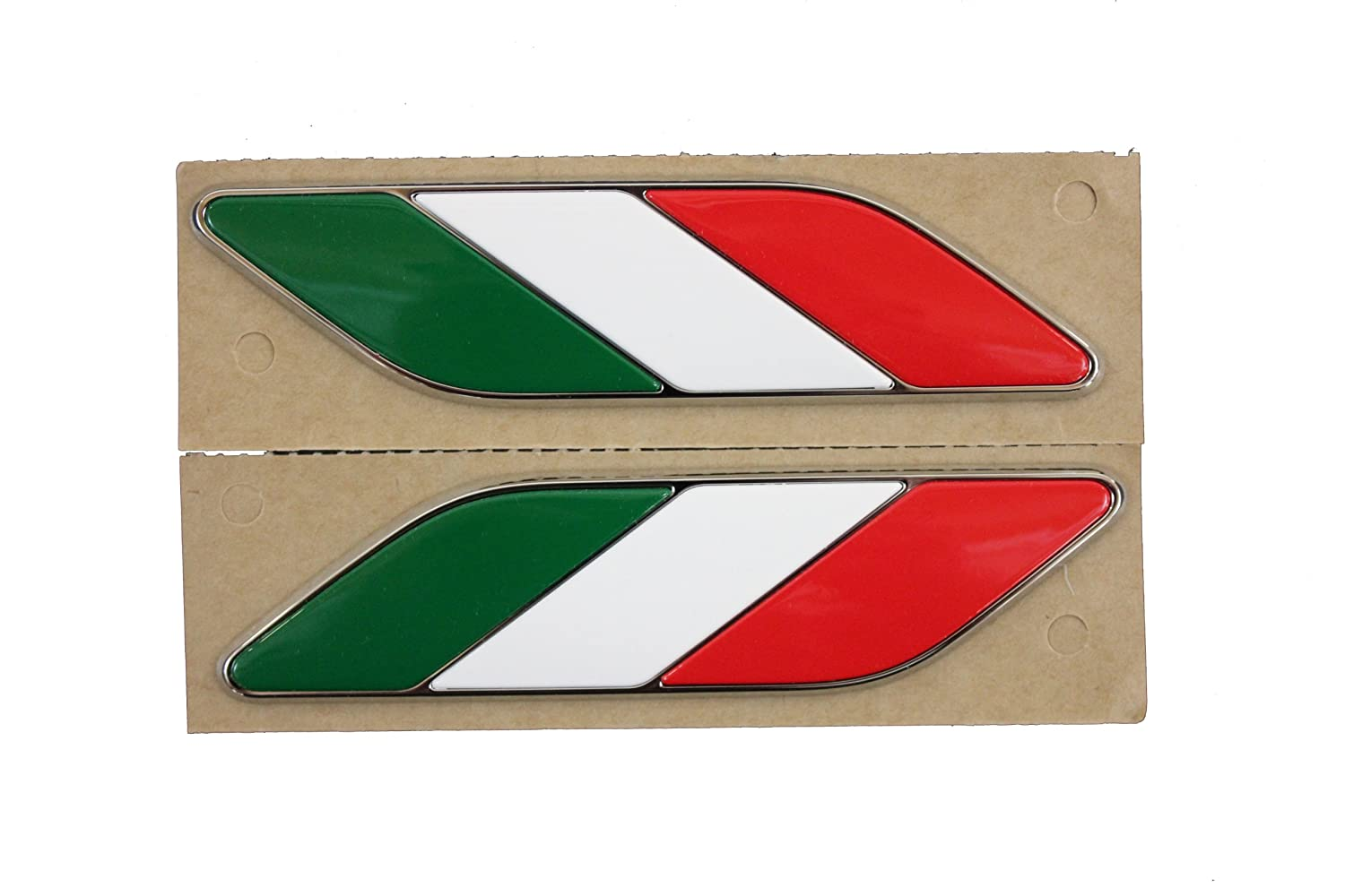 GENUINE FIAT Accessories 82212811 Red//White//Green Fender Badge for Fiat 500//500C