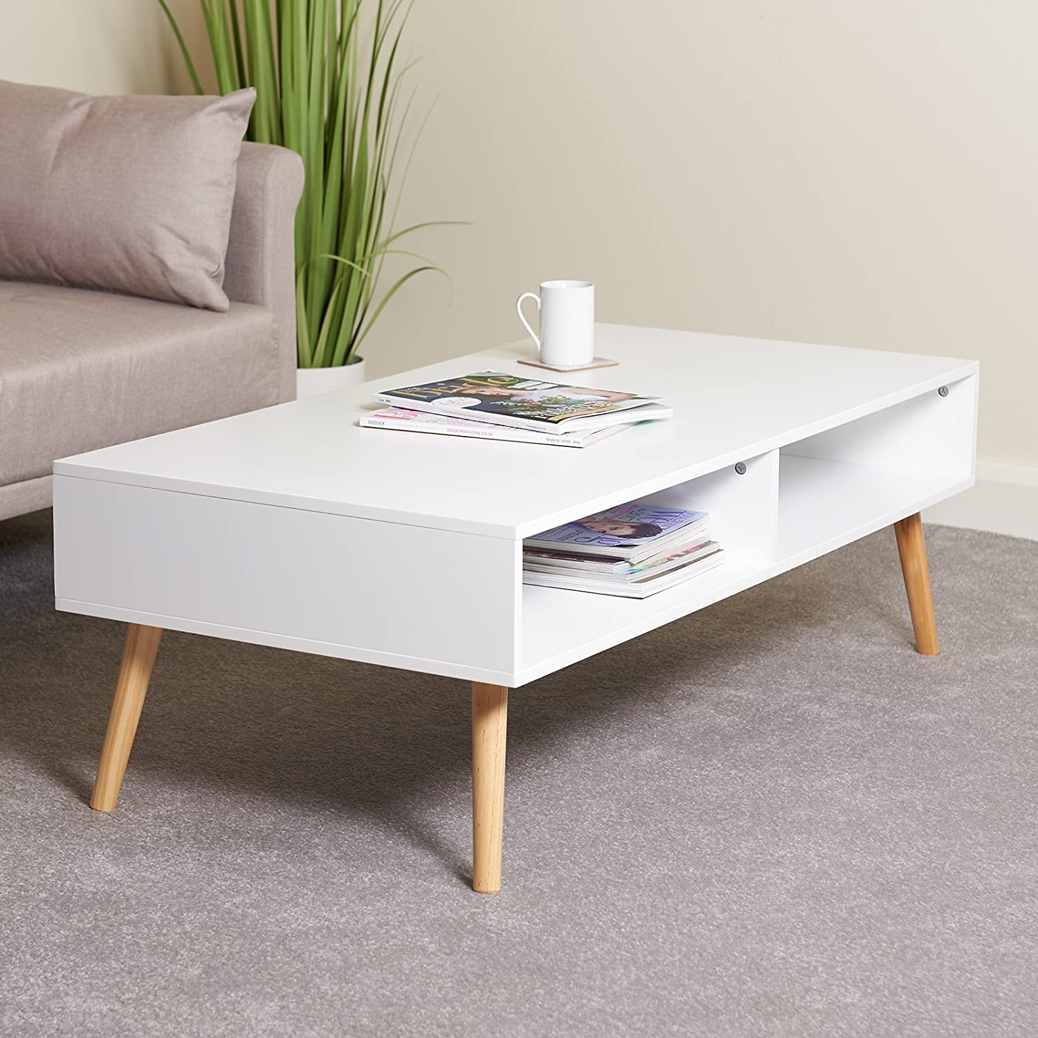 Hartleys Large White Coffee Table