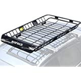 "Leader Accessories Upgraded Roof Rack with 150 LB Capacity Extension 64""x 39""x 5' Car Top Luggage Holder Carrier Basket…"