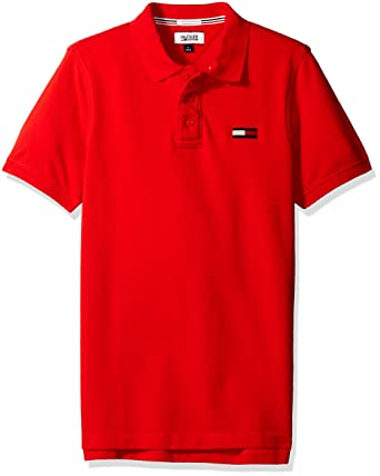1b937f06 Tommy Hilfiger Denim Men's Basic Big Flag Polo Short Sleeve High Risk Red,  X-Large at Amazon Men's Clothing store: